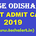 Odisha OTET Admit Card 2019 @bseodisha.ac.in (Available)