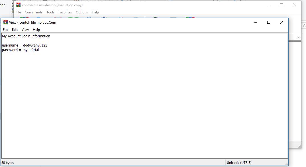 Membuka Isi File MS-DOS