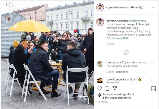 Szymon Hołownia na spotkaniu z wyborcami