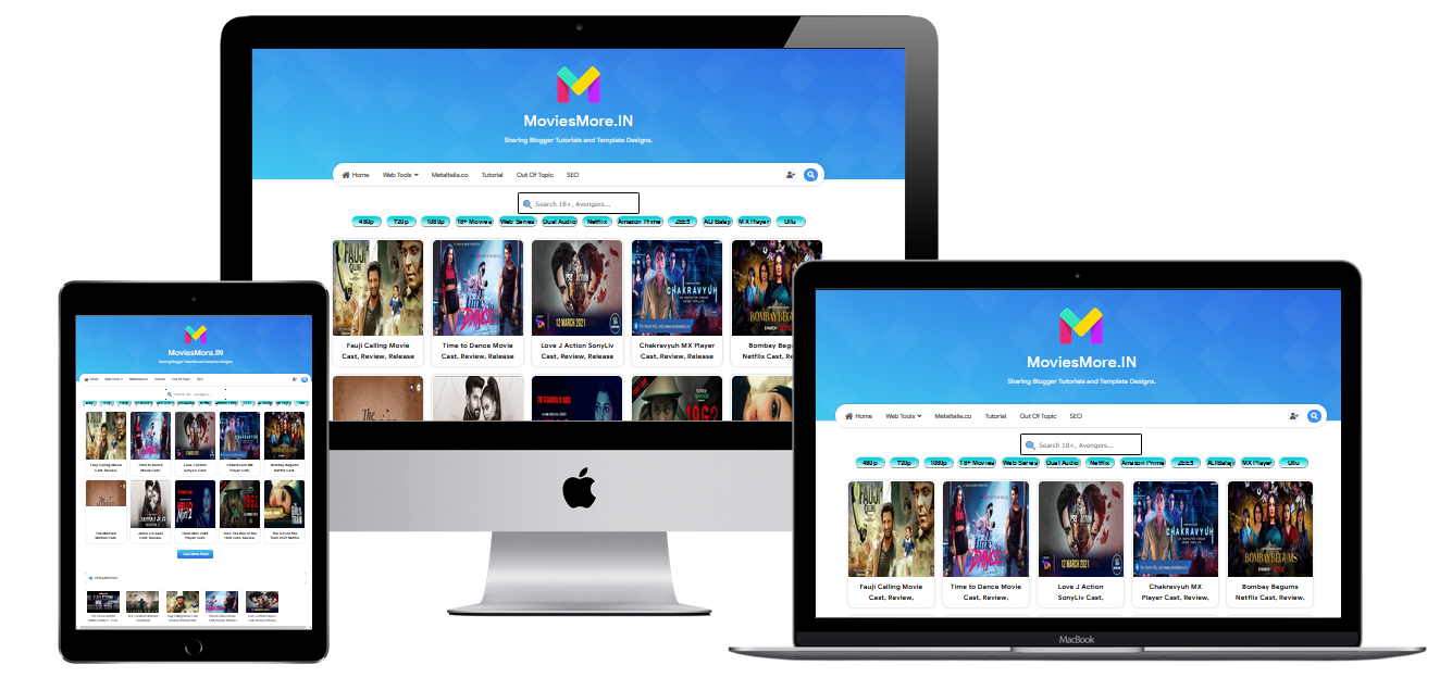 Freelink Movies Full Responsive Blogger Template