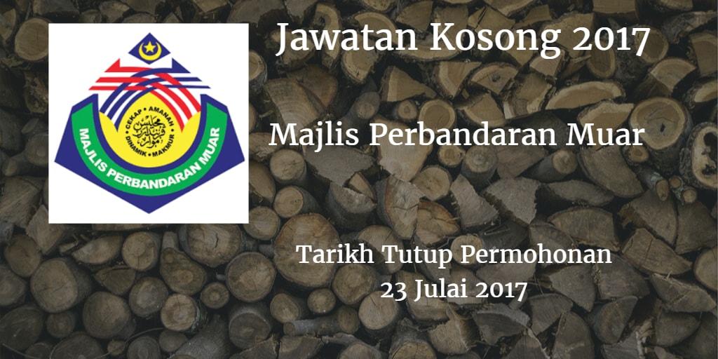 Jawatan Kosong MP Muar 30 Julai 2017