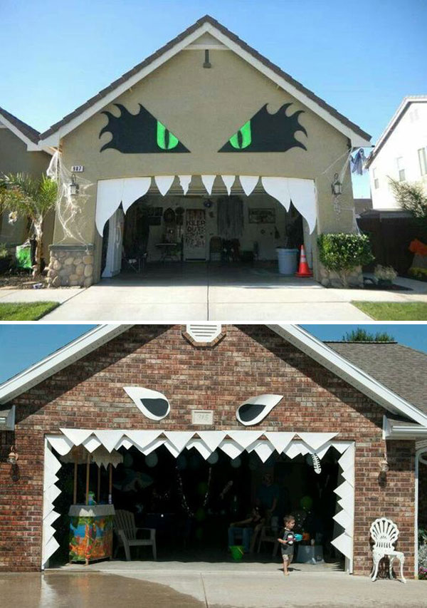 Awesome Garage Door Decorating Ideas for Halloween | Do it ...