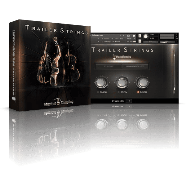 Musical Sampling Trailer Strings KONTAKT Library