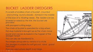 bucket ladder dredgers