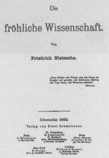 La gaya ciencia. Friedrich Nietzsche