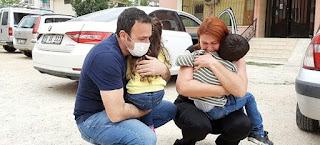 يعملان بالكادر الطبي.. لقاء بالدموع بعد مرور شهر على فراق أب وأم لأطفالهما