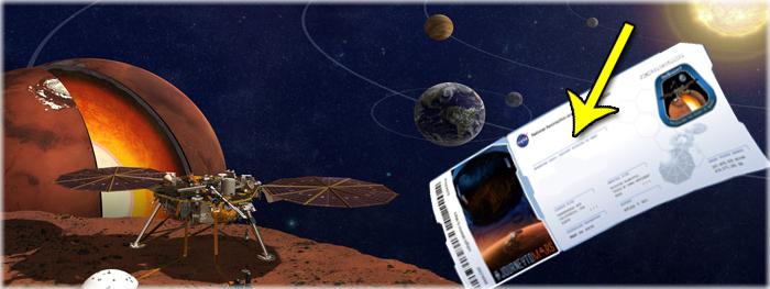como mandar nome para Marte