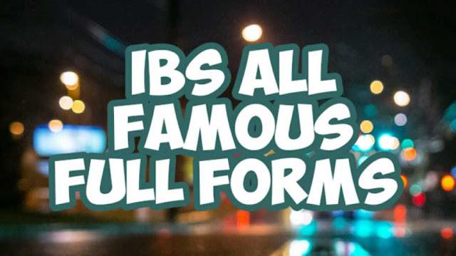 Full Form of IBS | In Weight Unit Banking Bike | (Full Form) - dealerrocks.com