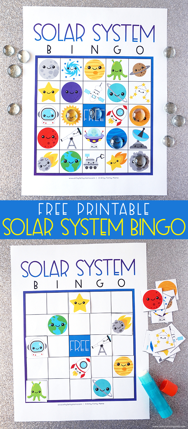 Free Printable Solar System Bingo