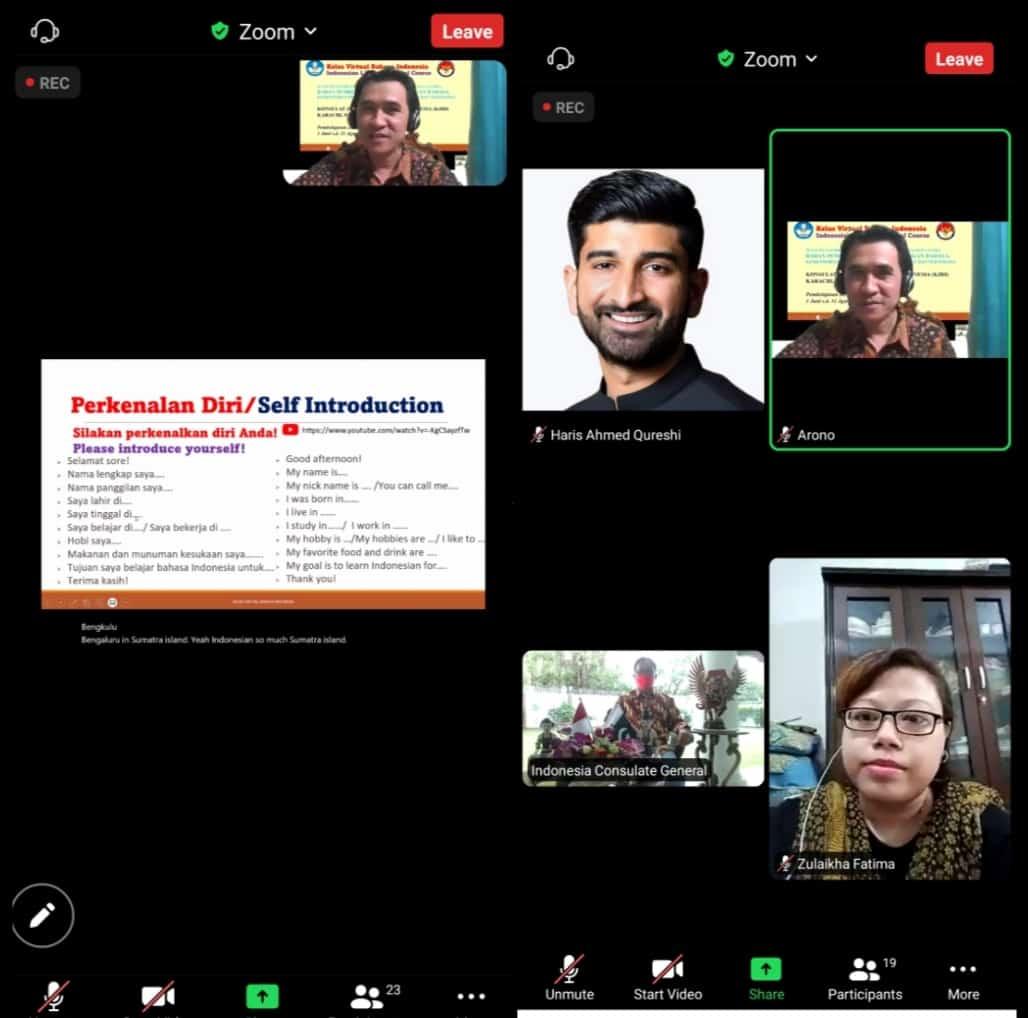 KBRI Karachi Meluncurkan Program Kursus Bahasa Indonesia Secara Daring