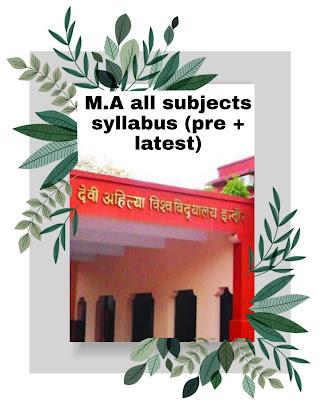 Davv M.A all subjects syllabus previous
