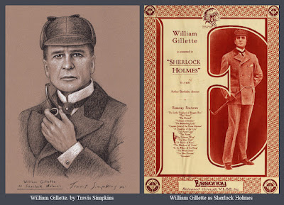 William Gillette as Sherlock Holmes. Stage Actor. Silent Film. Gillette Castle. by Travis Simpkins