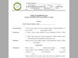 Surat Keputusan Ketua Yayasan Tentang Penunjukan Kepala-Bendahara MDT-TPQ