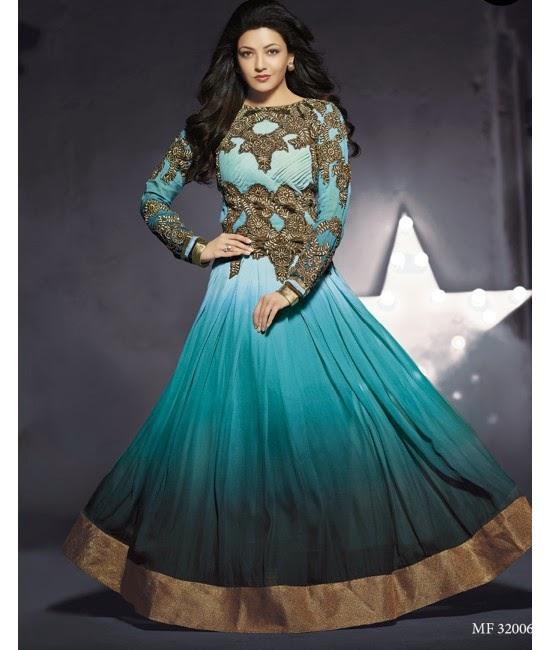 Kajal Agarwal in Green Designer Dress