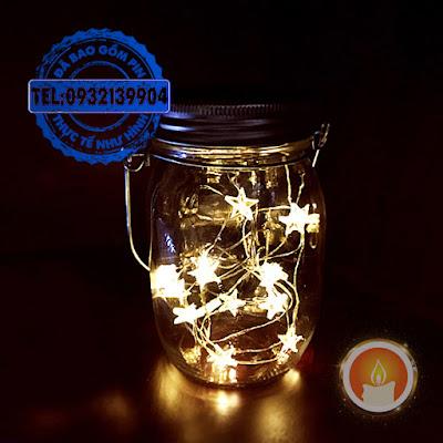 Lọ đèn led hình sao sạc pin năng lượng