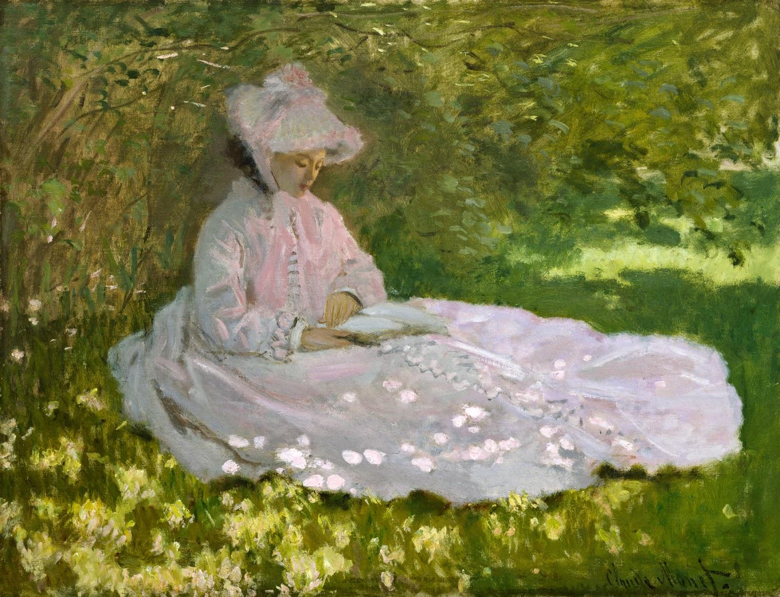 Primavera - Pinturas de Monet Claude | O Pai do Impressionismo