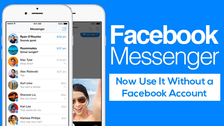 You Can Now Use Messenger App without a Facebook Account