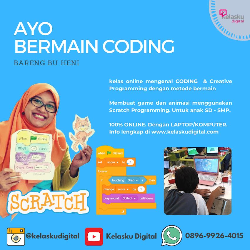 Kelas Online Scratch Coding REGULER Bersama Bu Heni