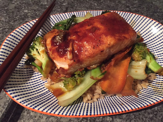 Healthy Weekday Meal #14.........{Miso Salmon with Stir Fry Veg}