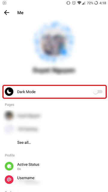 Turn On Dark Mode Messenger, Hướng Dẫn Kích Hoạt Chế Độ Giao Diện Tối Cho Messenger Facebook, Cách Bật Chế Độ Dark Mode Cho Facebook Messenger