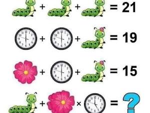 Jawaban IQ Test For Genius Only: Ulat, Bunga, dan Jam