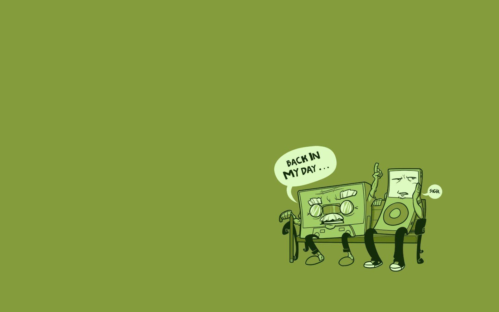 funny wallpaper green