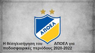 Η θέση του ΑΠΟΕΛ σε σχέση με τον τρόπο εξέλιξης του παγκυπρίου Πρωταθλήματος 2020-2021