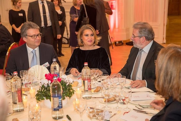 Grand Duchess Maria Teresa attended gala dinner of 30th anniversary of establishment of MSF-Luxembourg at Cercle Cite Culture Center.