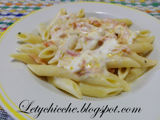 Pennette al salmone - Letychicche