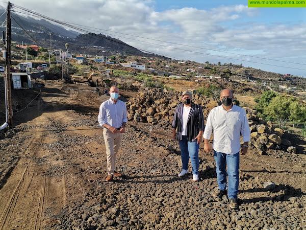 El consejero de Turismo visita las obras de interés turístico en Puntagorda y Los Llanos de Aridane