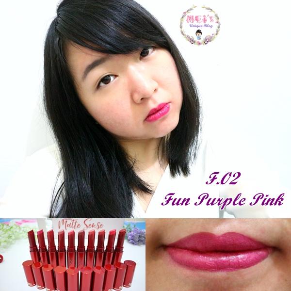 Fanbo Fantastic Matte Sense Matte Lipstick Swatches F.02