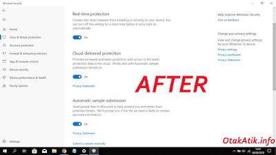 Akhirnya, setelah melakukan cara ini saya berhasil mengaktifkan kembali Real time protection di Windows Defender saya dan rencana saya jika cara ini tetap tidak bisa maka saya mau gak mau harus instal ulang laptop lagi.