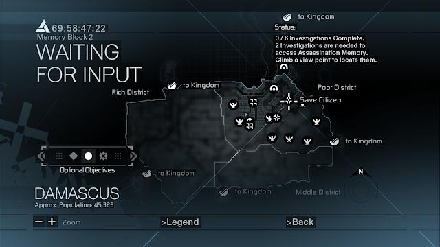 Tampilan Maps Assassin's Creed