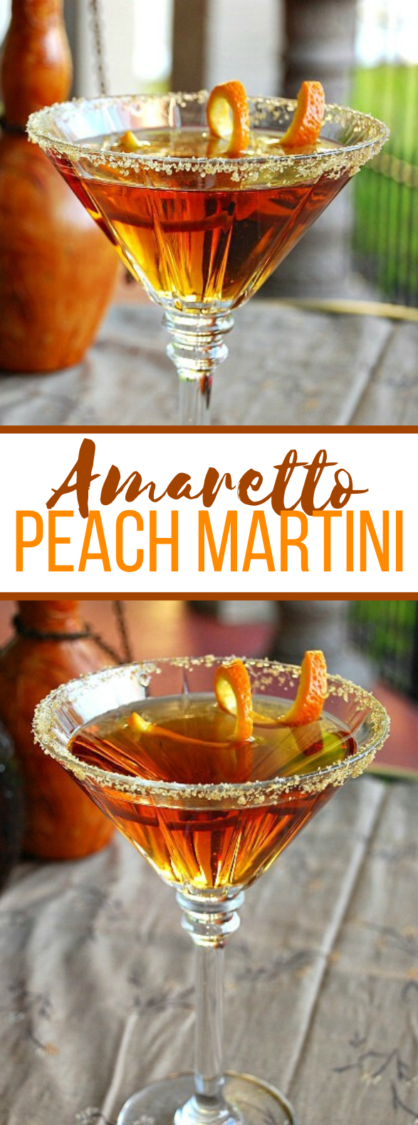 AMARETTO PEACH MARTINI #drinks #cockatils