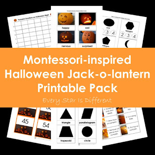 Montessori-inspired Halloween Jack-o-lantern Printable Pack