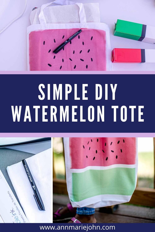 Simple DIY Watermelon Tote