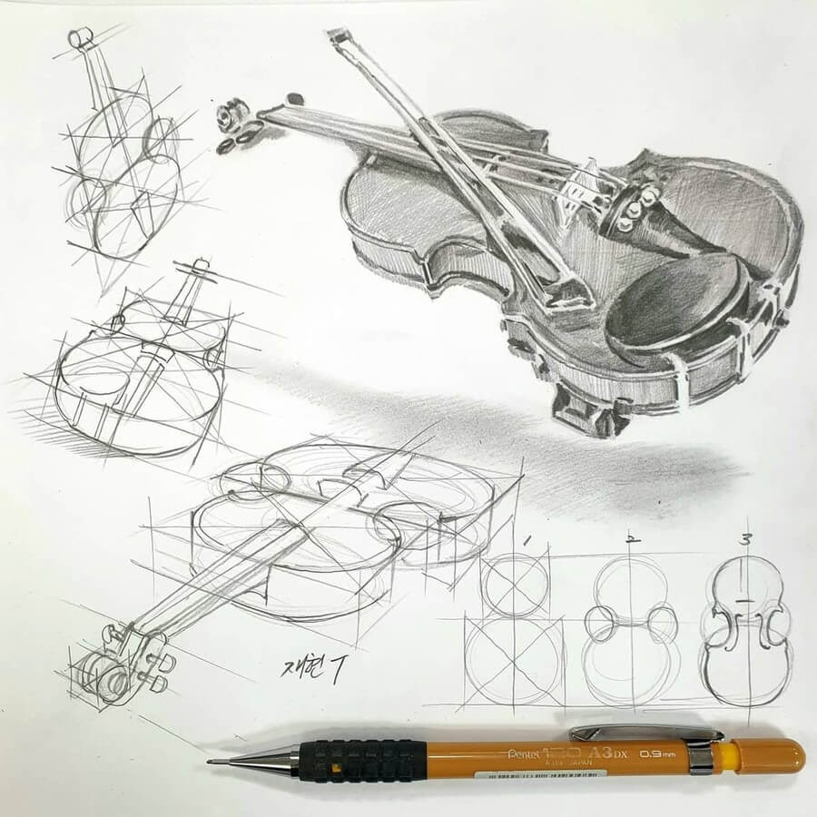 09-Violin-and-bow-anjjaemi-www-designstack-co