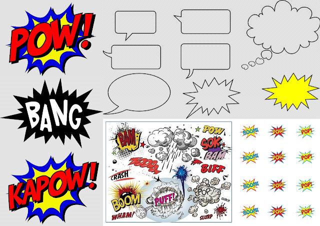 Globos para Diálogos Estilo Comic para Imprimir Gratis.