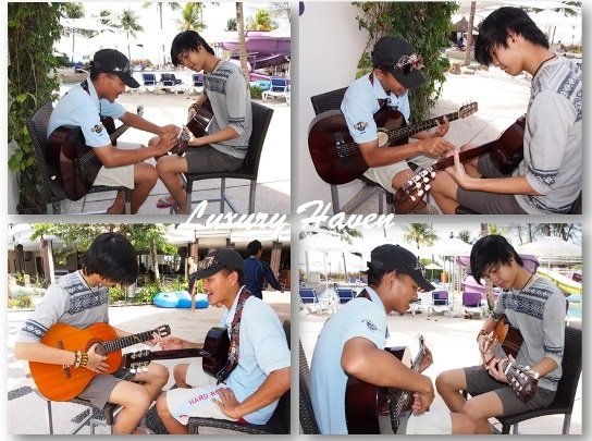 hard rock penang poolside guitar lesson activity