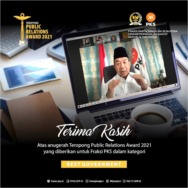 Fraksi PKS Raih Penghargaan TPR Award 2021, Katagori Best Goverment