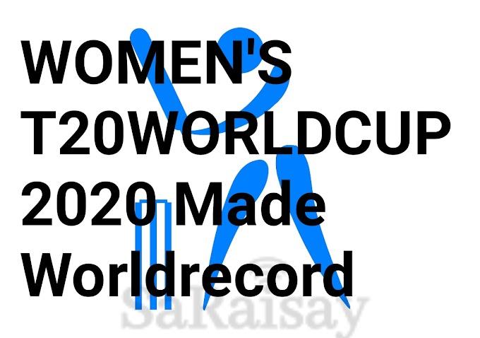 Women's T20Worldcup में बना WorldRecord।जानिए क्या था खास।