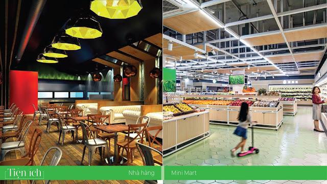 Khu ẩm thực và siêu thị mua sắm