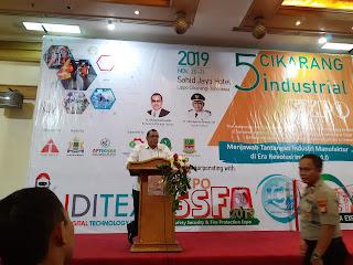 Ketum APTIKNAS dalam Pembukaan Cikarang Industrial Expo 20 Nov 2019