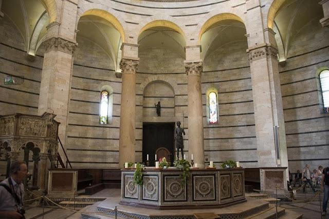 Estrutura do Batistério de Pisa