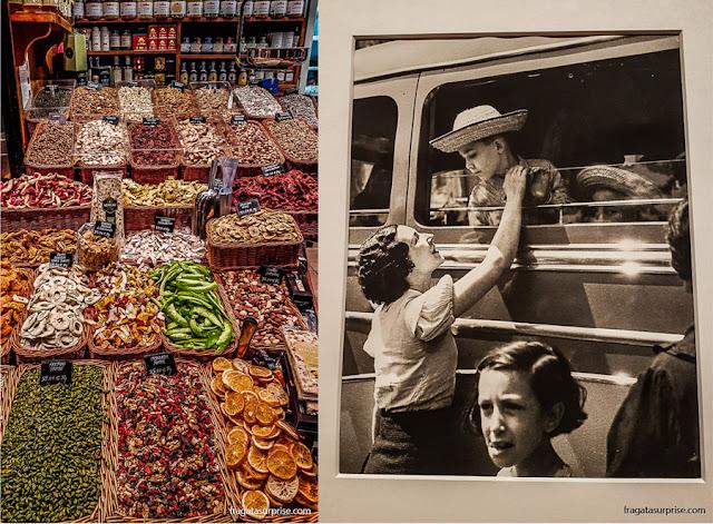 Barcelona: Mercado da Boqueria e foto da Guerra Civil Espanhola de Augusti Centelles, no Museu Nacional de Arte da Catalunha