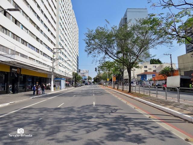 Vista de trecho da Avenida Jabaquara - Bairro Mirandópolis - São Paulo