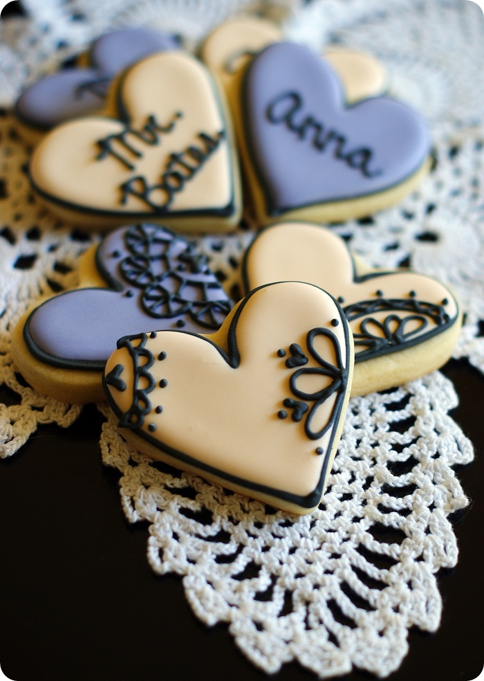 Lacey, Downton Abbey-inspired Valentine cookies