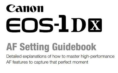 EOS-1D X AF Settings Guidebook Download