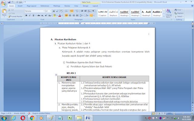 Dokumen muatan kurikulum 2013 sekolah/madrasah (KI dan KD kelas 1-6)