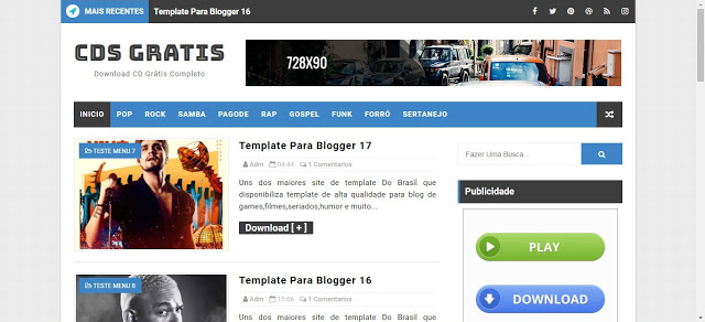 Template blogs Cds Completos Blogger